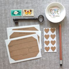 Kraft Address Labels and Heart Seals from We Heart Paper