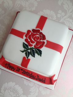 England Rugby themed cake - For all your cake decorating supplies, please visit craftcompany.co.uk