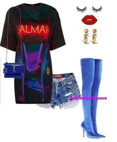 IG•StyledByZerquera; CallHer.Sassy Kpop Outfits, Short Outfits, Sexy Outfits, Chic Outfits, Trendy Outfits, Summer Outfits, Fashion Outfits, Womens Fashion, Badass Outfit