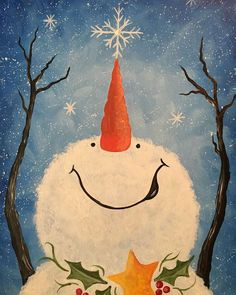 Browse our upcoming painting classes and events at Naperville Pinot's Palette! Reserve your seat for the best paint and sip experience today! Snowman Crafts, Christmas Projects, Holiday Crafts, Christmas Signs, Christmas Decorations, Holiday Signs, Father Christmas, Primitive Christmas, Country Christmas
