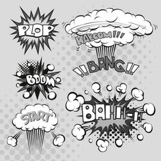 effetto di esplosione del fumetto bianco e nero