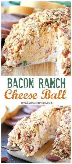 Need a quick appetizer for that upcoming party or just because? Then you need to make this Easy Cheese Ball with bacon, ranch, and almonds. Perfect with crackers and meats. This appetizer will be a hit!