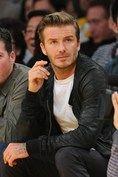 David Beckham at LA Lakers Game - Celebrity Photos