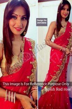 Bipasha Basu Red Georgette Saree avec Blouse Prix: 93,13 €  Red, georgette saree avec or, chemisier. Agrémentée de brodé. Saree est livré avec col chemisier u. Produit sont disponibles en tailles 34,36,38,40. Il est parfait pour vêtements de sport, vêtements de fête, vêtements de mariage et l'usure du parti. Blouse Tissu: Banarasi  http://www.andaazfashion.fr/womens/sarees/red-georgette-saree-with-blouse-dmv8856.html