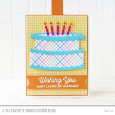 Handmade card from Torico featuring Twice the Wishes Card Kit #mftstamps