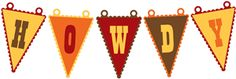 Silhouette Online Store - View Design #29048: howdy banner