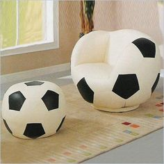 Exceptionnel Kids Soccerball Chair And Ottoman