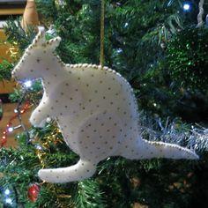 Kangaroo made from embossed felt