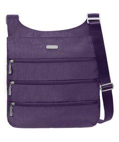 This Grape Big Zipper Crossbody Bag is perfect! #zulilyfinds