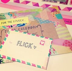 sail mail / letters / cute