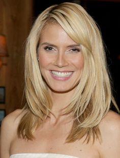 Heidi Klum Hairstyles - like the bangs, length, style