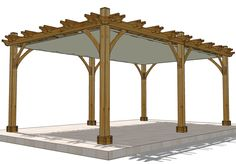 12'x20' Pergola with retractable awning