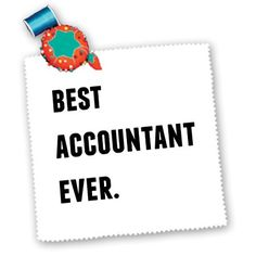 awesome Xander inspirational quotes - Best Accountant Ever, Black Letters On A White Background - Quilt Squares