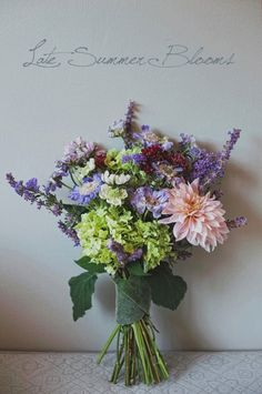 late summer wedding flowers bouquet