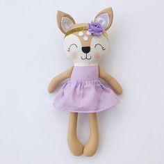 Deer doll  fabric doll   handmade doll  rag doll  girls