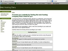 http://www.webhostingdiary.com | WebHostingDiary.com - Find cheap web hosting company that is best for you at WebHostingDiary.com.