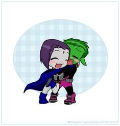 Beast boy and raven teen titans