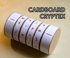 cryptex maken van karton Cardboard Cryptex Safe - Would need to be hidden in a container though since it wouldn't be watertight. Escape Room Diy, Escape Room For Kids, Escape Room Puzzles, Escape Box, Escape The Classroom, Classroom Games, Fun Crafts, Crafts For Kids, Science Crafts