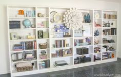 how to easily disguise the cardboard backing on ikea bookcases, painting, shelving ideas, wall decor Ikea Billy Bookcase, Wooden Bookcase, Built In Bookcase, Painted Bookcases, Bookcase Door, Wall Bookshelves, Bookshelf Styling, Room Shelves, Billy Hack
