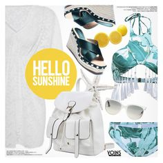 """""""Hello Sunshine-Yoins 2"""" by pokadoll ❤ liked on Polyvore featuring Ray-Ban, yoins, yoinscollection and loveyoins"""