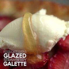 Glazed Strawberry Galette