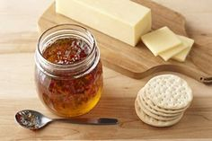 CERTO Hot Pepper Jelly recipe.  Great with cream cheese on crackers, bagels...your finger...[hee! hee!]   Yum!
