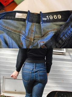 Taking jeans in at the waist
