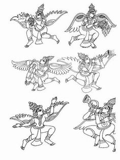 Indian Painting Styles...Kalamkari Paintings (Andhra Pradesh)-figures.jpg