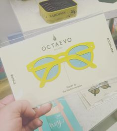 Love this  bookmark by @octaevo I'm trying (and failing) to use my contact lenses a bit less this year maybe bright yellow glasses would give me some motivation! #octaevo #girlswithglasses #glasses #bookmark