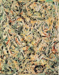 """Jackson Pollock """"Eyes in the Heat (1946), - Gesture + Space"""