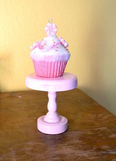 Pink MINI Short Cupcake Stand 4 inch by GiftsbyGaby on Etsy, $12.00