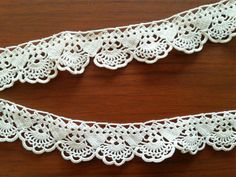 Vintage Lace Edge Crocheted Cotton Trim  by CuteTraditonalThings, $22.00