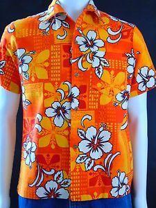 Vintage 60s Royal Hawaiian Barkcloth Aloha Surf Shirt Mod G.V.H Print Size M   in Clothing, Shoes & Accessories, Men's Clothing, Casual Shirts | eBay