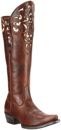 Ariat Women's Delphine Tigerseye Brown Wingtip Snip Toe Western ...