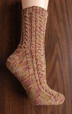 free knit men's sock pattern - Maizy Trail Mix Socks - corn fiber sock yarn - Crystal Palace Yarns