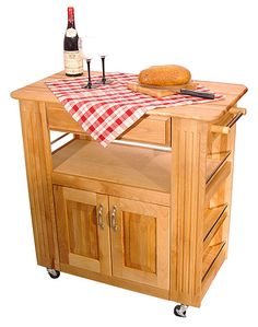 Catskill Craftmen Heart-of-the-Kitchen Island Cart | Overstock.com Shopping - The Best Deals on Butcher Blocks