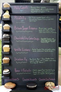 Display idea for a food truck or at a farmers market selling cupcakes.