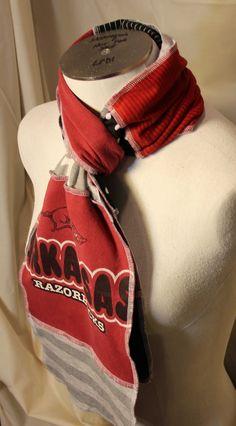 Arkansas Razorback scarf University of Arkansas by LolliPopsDream