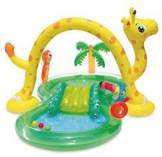 Summer Waves Inflatable Jungle Animal Kiddie Swimming Pool Play Center w/Slide for sale online Pool Water Slide, Swimming Pool Water, Water Slides, Kids Swimming, Pool Play, Kid Pool, Water Play For Kids, Summer Waves, Target