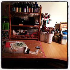 Desk Shot  Courtney Brook - Little Raven Ink Art Journal Pages Blogged : www.ravenscauldron.blogspot.com.au