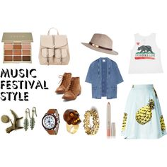 Indie festival (grape or pohoda, Slovakia) by alica-banszka on Polyvore featuring Billabong, MiH Jeans, MSGM, Glam Rock, Alexander McQueen, Arosha Luigi Taglia, River Island, Stila, contestentry and musicfestivalstyle