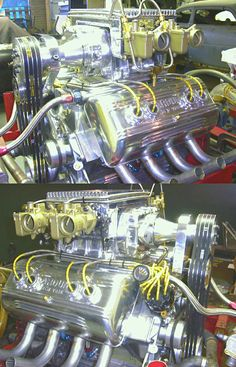 FORD flathead blown with side draft carburetor and ARDUN heads beautiful looking motor.