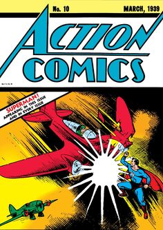 Early Superman cover on Action Comics #10, March 1939