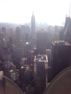 Panoramic view of New York from top of the rock Rockefeller building