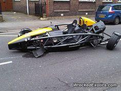 Ariel Atom crashed in London