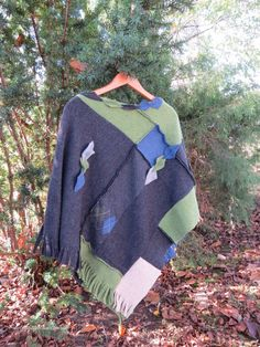 Poncho Cape Upcycled sweater poncho cape wool