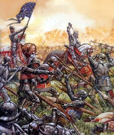 Charge of the French army at the Battle of Formigny, Hundred Years War