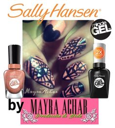 """""""No Light Gel: Show Us Your Tribal Vibe in 2 Steps with Sally Hansen® Miracle Gel™: Contest Entry"""" by mayraacharok ❤ liked on Polyvore featuring beauty and Sally Hansen"""