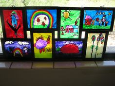 Our beautiful faux stained glass projects.