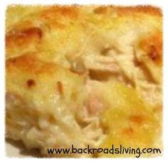 Chicken and dumpling casserole - comfort food!